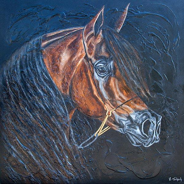 Al Shaqab arabian horse artwork