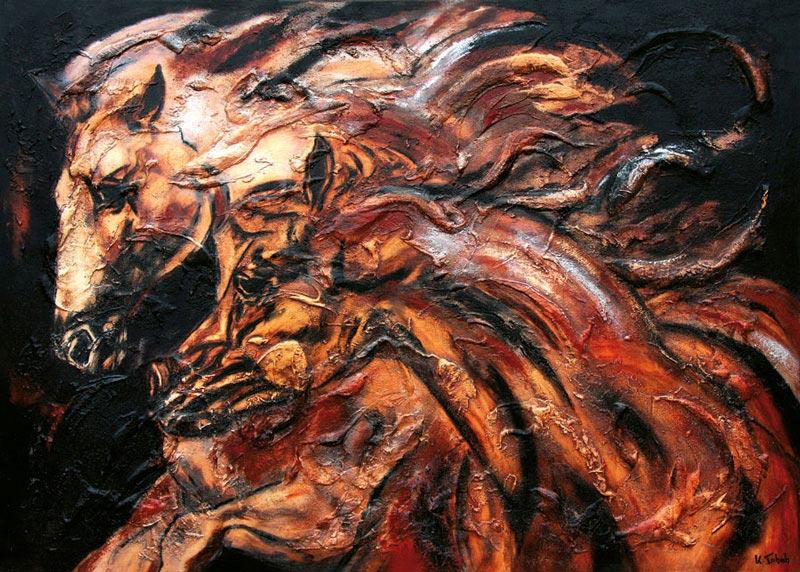 Arabian Horses Painting