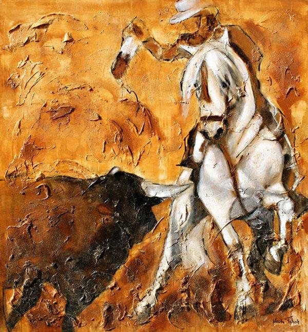 Spanish Bullfight Painting