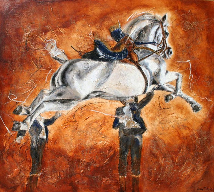 Capriole Horse Painting