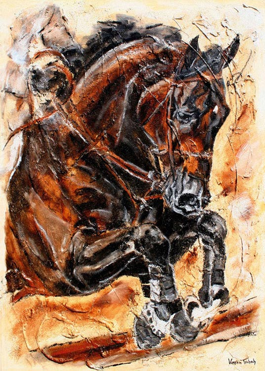 Checkmate Jumping Horse Painting