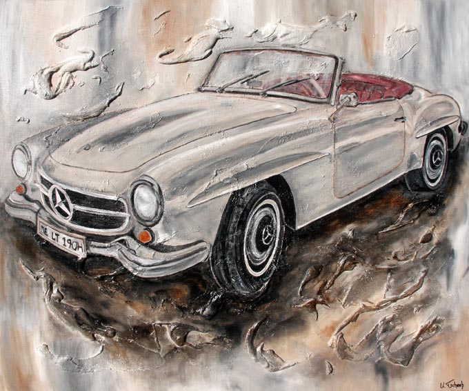 Commissioned modern car painting