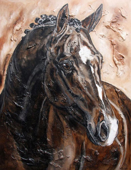 Horse Portrait commissioned painting