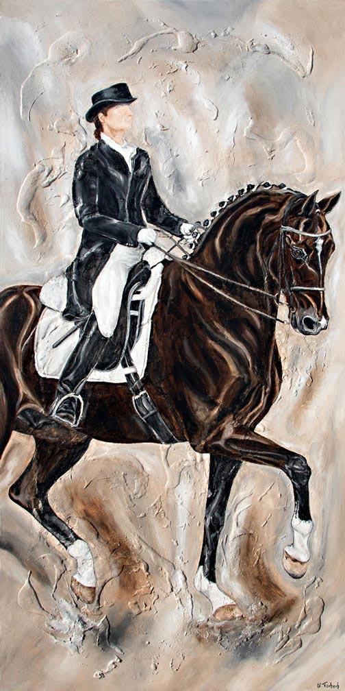 Modern Dressage Horse Painting