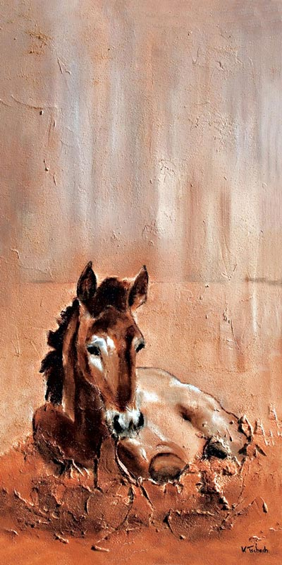 Foal Painting with Structure