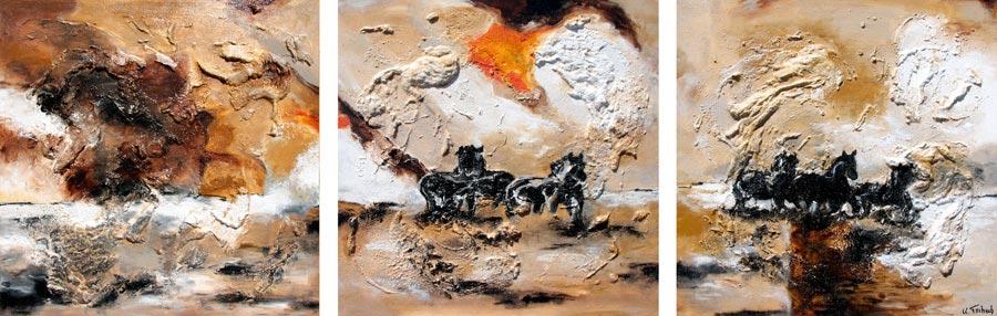 Horse painting landscape