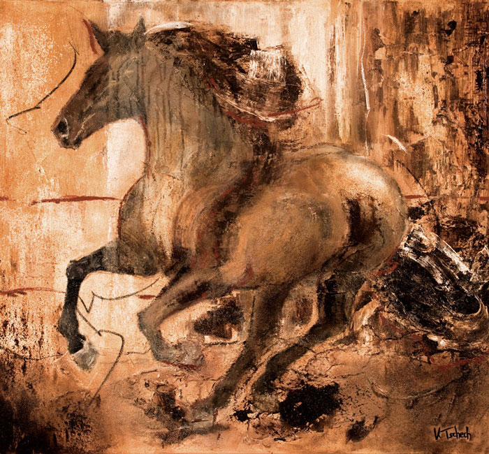Horse art calendar with paintings