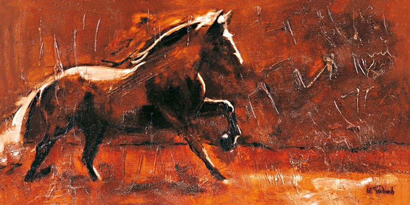 Horses on Canvas with Structure
