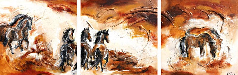 Horse Painting abstract landscape