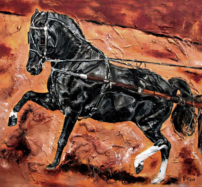 Horse Painting Carriage Commission