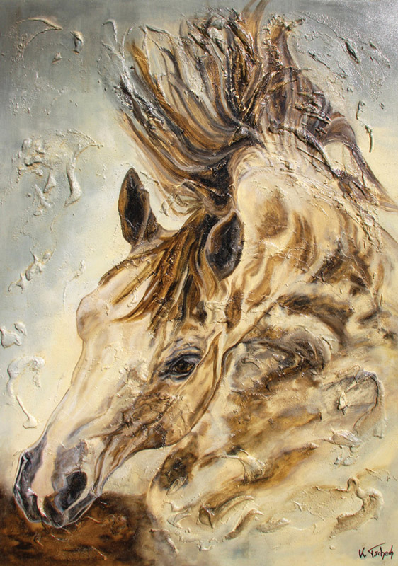 Horse painting commisssioned work