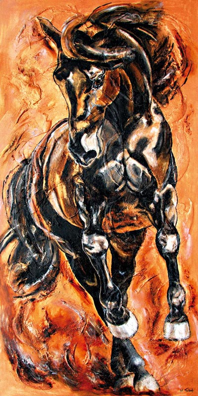 Pirouette Horse painting