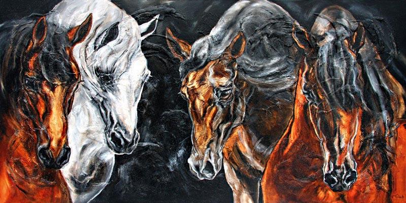 Modern Equestrian Art Kerstin Tschech