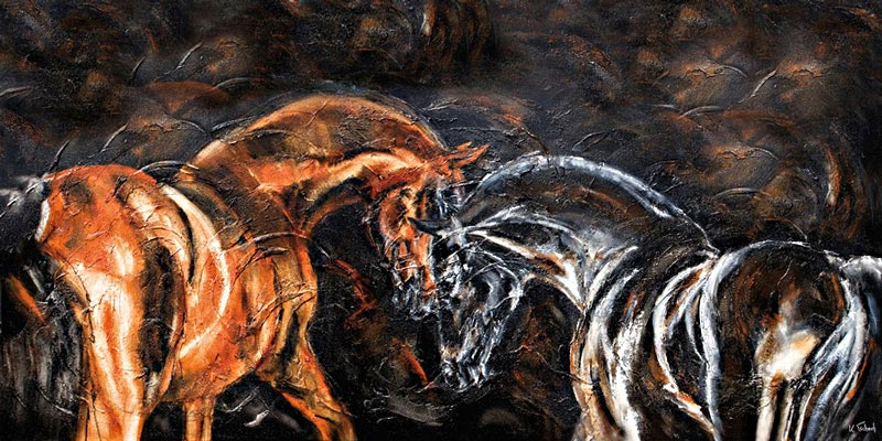 Horse Painting with Structure