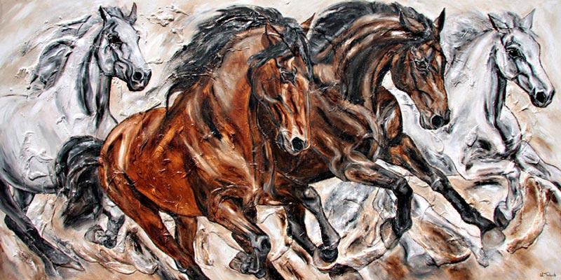 Horse Herd Painting