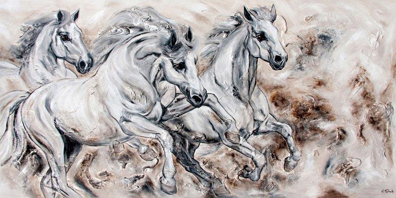 White Horses painted