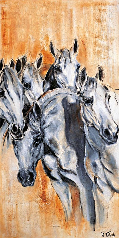 Mares painted