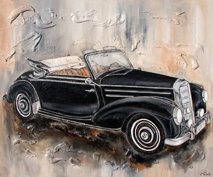 Oldtimer Painting commissioned work