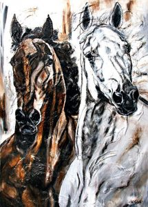 Sports Horses Painting