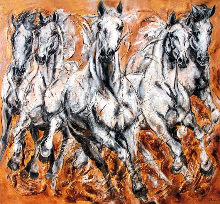 White horses Kerstin Tschech