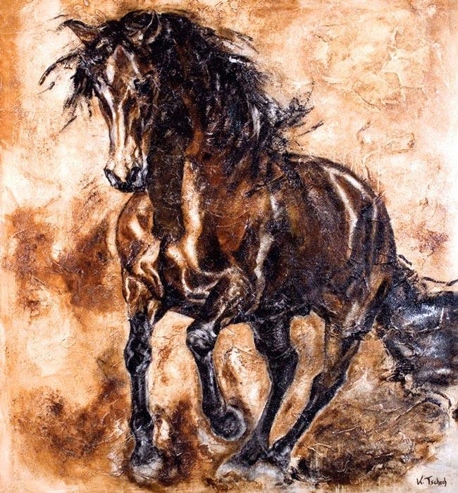 Pre horse painting Kerstin Tschech