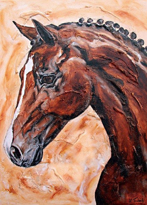 Sportshorse dressage painting