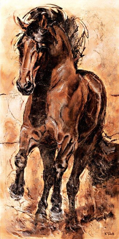 Stallion horse painting Kerstin Tschech