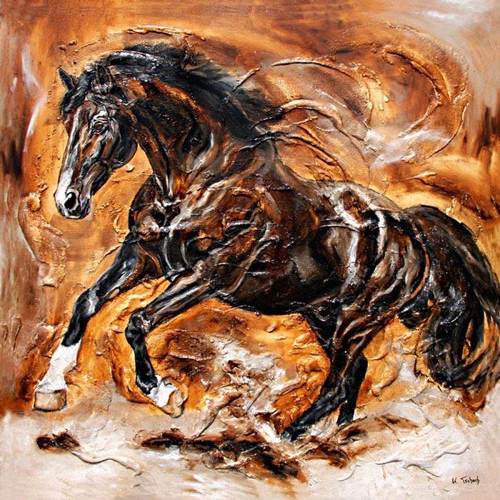Trakehner Horse Painting Kerstin Tschech
