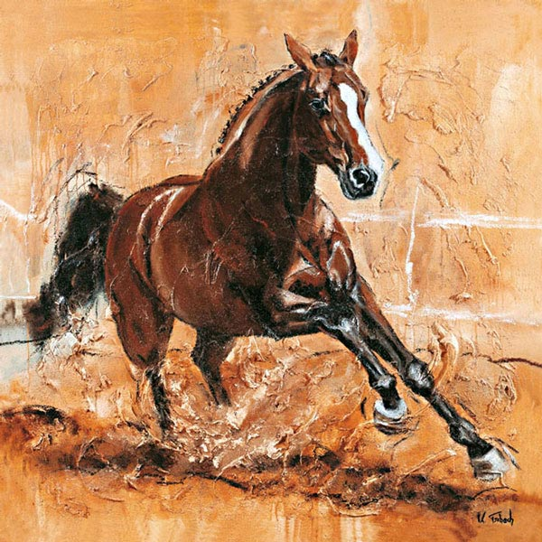 Warmblood Horse painted as commission