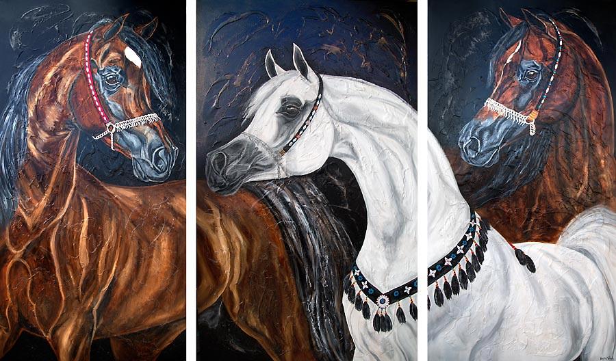 arabian horses paintings