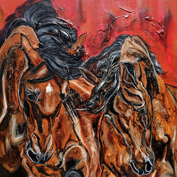 Horse Portraits on Canvas